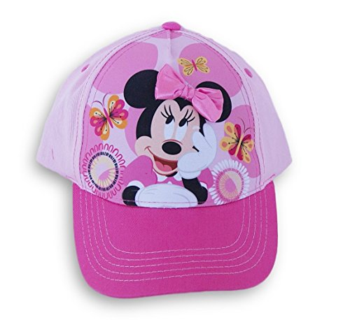 Berkshire Fashions Minnie Mouse Girls' Pink Baseball Cap Hat