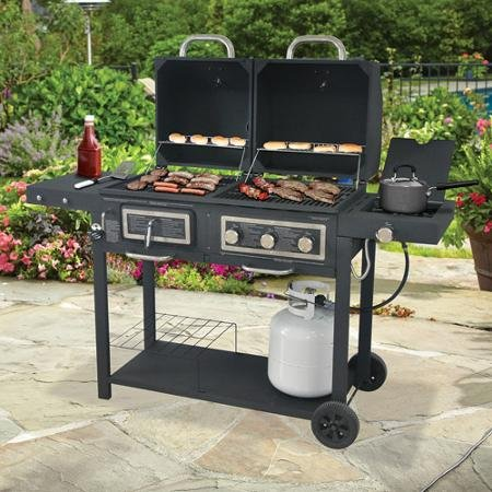 Durable Outdoor Barbeque Amp Burger Gas Charcoal Grill Combo