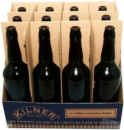 KILNER Bebidas Funciona Botella, Cristal, Negro, 750 ml: Amazon.es ...