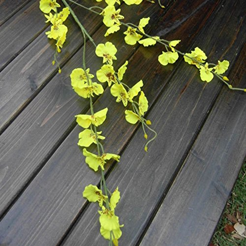 SU@DA Single dance blue 2-color artificial flower plant simulation wedding 10pcs , yellow at least 20