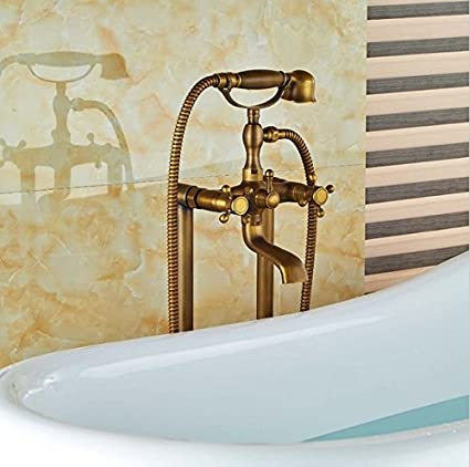 Superbe GOWE Floor Mount Bathroom Claw Foot Bath Tub Faucet Free Standing Brass Antique  Bathtub Mixer Taps     Amazon.com