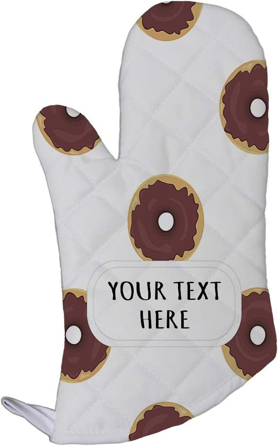 Polyester Oven Mitt Custom Donut Seemless Pattern Adults Kitchen Mittens
