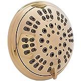 Home Water Treatment Equipment Aqua Elegante 6 Function Luxury Shower Head - Best High Pressure, Wall Mount, Adjustable Showerhead - Polished Brass