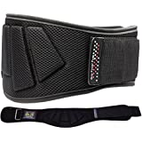 "Grip Power Pads Weightlifting Gym Belt Powerlifting for Men & Women 6 Inch Back Support Best for Olympic Gym Lifting (Black, 31""-37"" Around Navel Medium)"