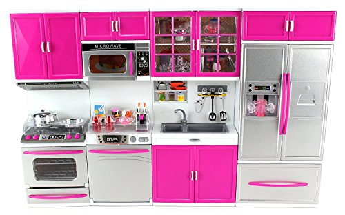 Amazon Com Doll Playsets My Modern Kitchen 32 Full Deluxe Kit With