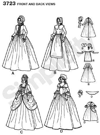Paper White Simplicity 3723Womens Costumes R5 14,16,18,2,22