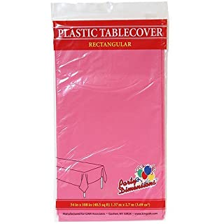 Plastic Party Tablecloths - Disposable, Rectangular Tablecovers - 4 Pack - Hot Pink - By Party Dimensions (B01LY0Y4Q0)   Amazon price tracker / tracking, Amazon price history charts, Amazon price watches, Amazon price drop alerts