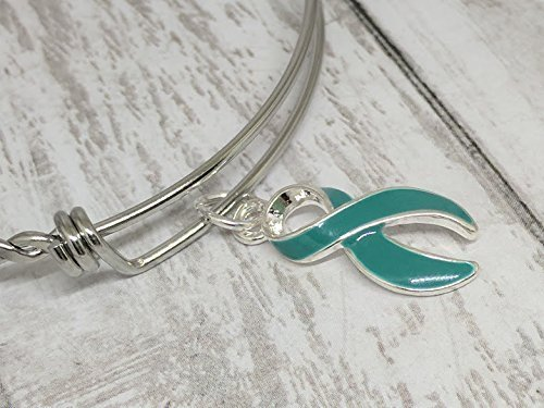 Teal Awareness Ribbon Bangle ()
