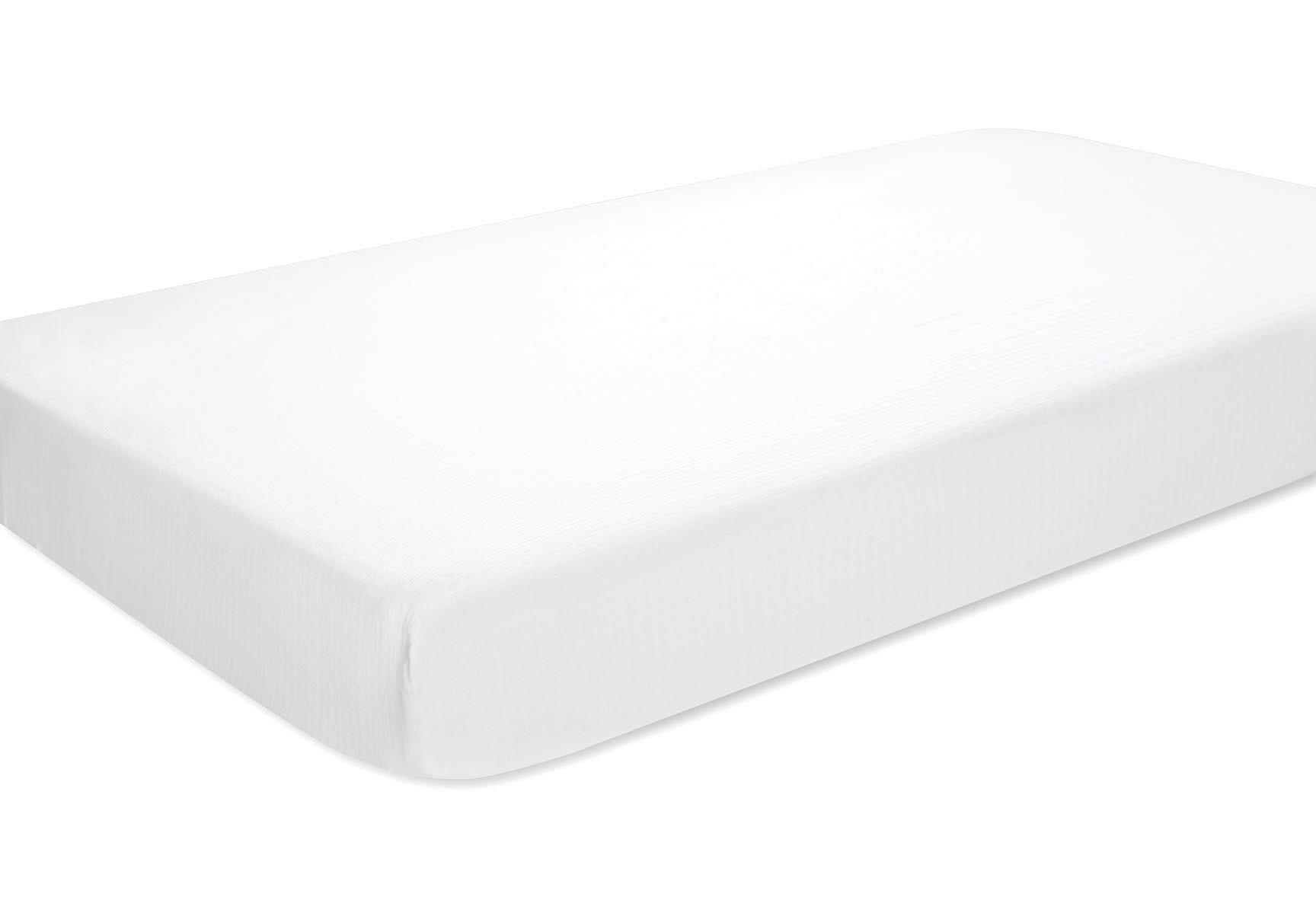 aden by aden + anais Crib Sheet, Solid White