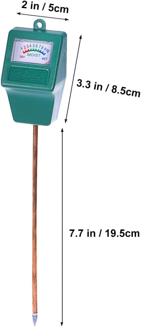 ULTECHNOVO Monitor de Agua Del Suelo Higr/ómetro de Planta Medidor de Sensor de Humedad Kit de Prueba de Suelo Medidor de Agua de Planta para Jard/ín Granja C/ésped Plantas Interior Exterior