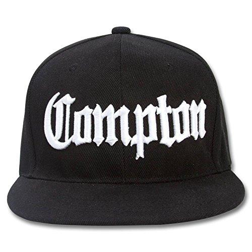 Compton Flat Bill Snapback Black Adjustable Baseball (Compton Hat Eazy E)