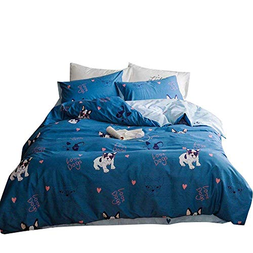 VClife Kids Cotton Duvet Cover Sets Twin Cartoon Printing Bedding Sets 200 Thread Count Reversible Chic Bedding Comforter Cover Sets - 3 Pieces Bed Sets (1 Duvet Cover and 2 Pillowcases) Standard Twin