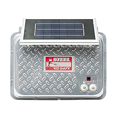 Red Snap'r ESP12V-RSS Steel 12V Solar Fence Charger