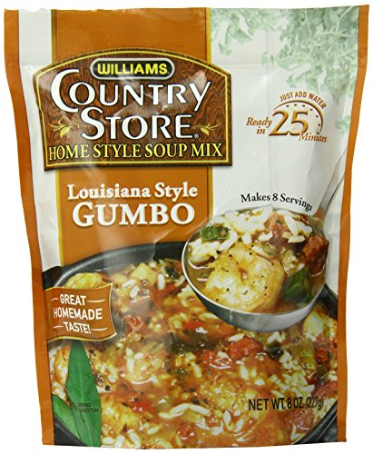 Williams Country Store Soup Mixes, Louisiana Style Gumbo, 8-Ounce Packages (Pack of 6)
