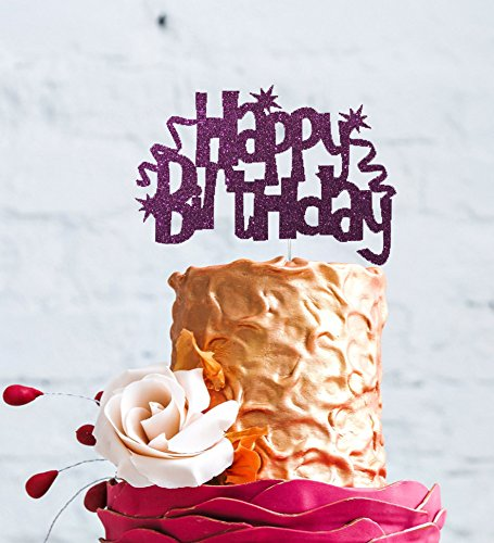 Remarkable Lissielou Happy Birthday Cake Topper With Swirls And Stars Funny Birthday Cards Online Unhofree Goldxyz
