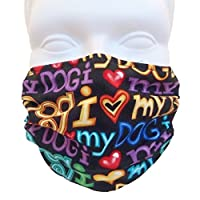 I Love My Dog Style Face Mask