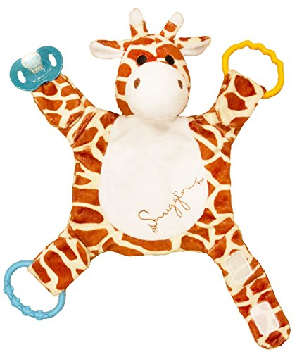 - Snuggin - The Comforting Day and Night Lovey Miracle for Babies (Spotted Giraffe) - Plush Stuffed Animal Pacifier and Teether Holder