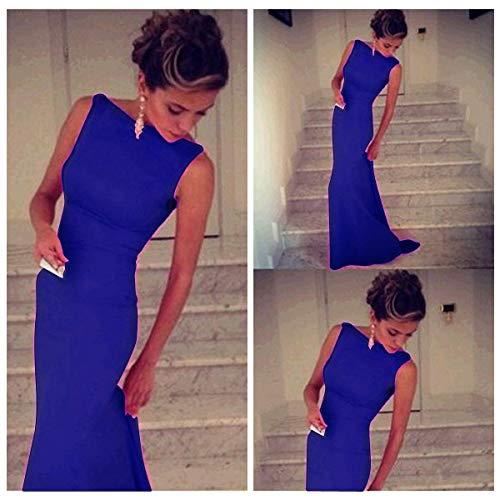 パール非行ほかにCcoco BandageスリムパーティMaxi Dress-blue-M