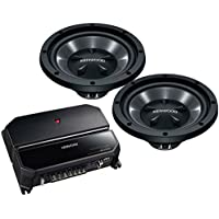 "Kenwood 170W Bass Package with 2 10"" Subwoofers and 2 Channel Amplifier 