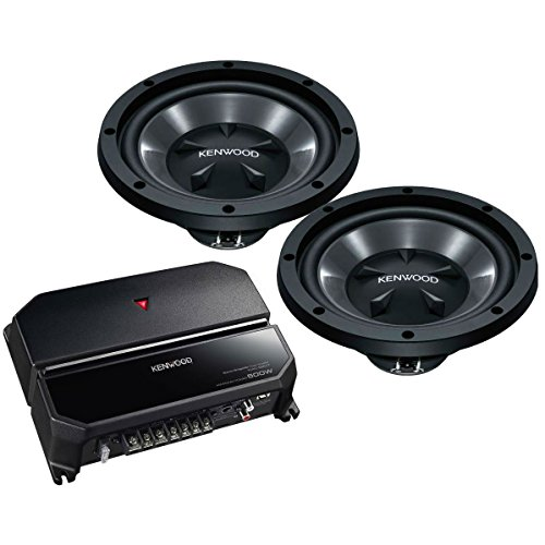 """Kenwood 170W Bass Package with 2 10"""" Subwoofers and 2 Channel Amplifier 