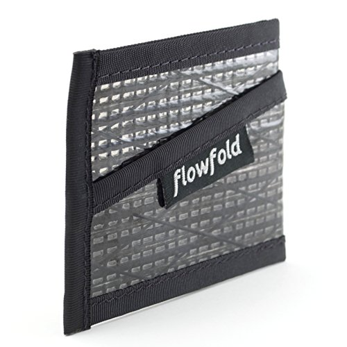 Flowfold Recycled Sailcloth Slim Three Pocket Card Sleeve Wallet - Light Weight - Made in USA made in New England