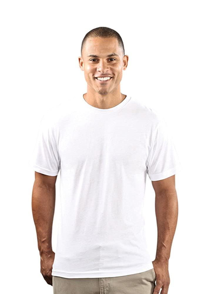5fc772f12bfd2 Amazon.com  Wholesale Blank Cloths Mens Polyester Sublimation Shirt - White   Clothing