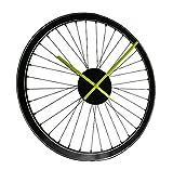 Zeckos Vinyl Wall Clocks Black Spoked Bicycle Wheel Peel And Stick Vinyl Wall Clock 19 Inch 19 X 19 X 1.5 Inches Black Review
