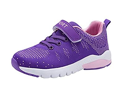 Kids Running Tennis Shoes Lightweight Casual Walking Sneakers for Boys and Girls (Little Kid/Big Kid) Purple Size: 1 Little Kid