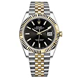Rolex Datejust 41 Steel & Yellow Gold Watch Jubilee Bracelet Black Dial 126333