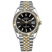 Rolex Datejust 41 Steel & Yellow Gold Watch Jubilee Bracelet Black Dial 126333