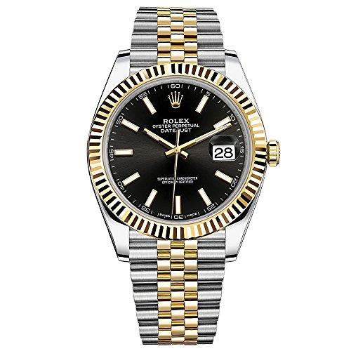 Rolex Datejust 41 Steel & Yellow Gold Watch Jubilee Bracelet Black Dial 126333 (Sapphire Rolex Datejust)