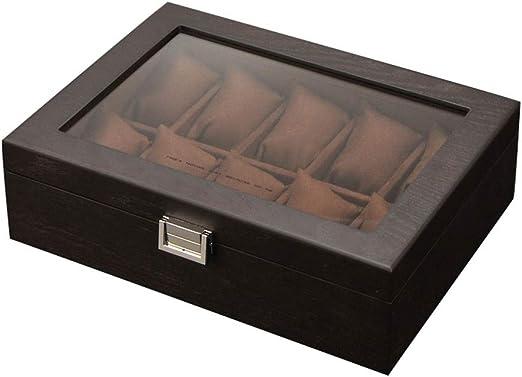 0LL Caja Relojes Hombre Estuche/Guarda Relojes Hombre para 10 ...