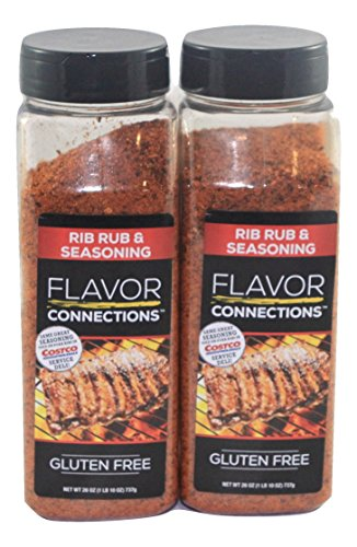 2 pack Rib Rub and BBQ Seasoning (26 Oz Professional Pack) - No MSG Gluten Free - 1 LB 10 OZ, 737g - Excellent Seasoning for Beef, Chicken, Lamb, Fish, and Vegetables (2 count) ()