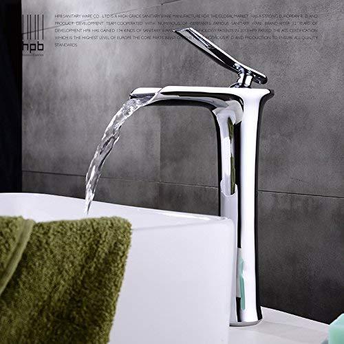 JingJingnet 洗面器ミキサータップ浴室のシンクの蛇口銅のホットとコールドプランジベンチ盆地プラス高盆地アート盆地シンク蛇口 (Color : 1) B07S4KZYTF 1