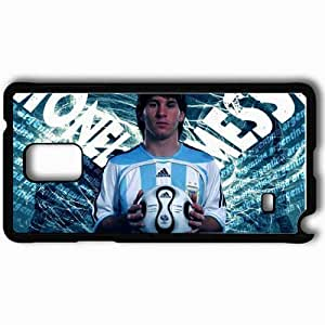Personalized Samsung Note 4 Cell phone Case/Cover Skin Messi football Black