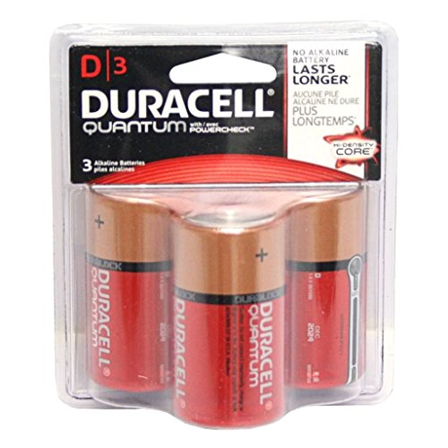 h Powercheck 3 Pack D Cell Battery (Xtra Storage)
