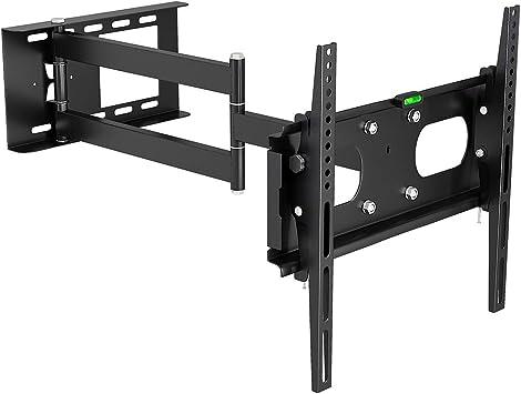 M&G Techno - Soporte de Pared para televisores de 63 Pulgadas (Distancia a la Pared de 67 cm, con conducto para Cables de 45 cm), Color Negro: Amazon.es: Electrónica