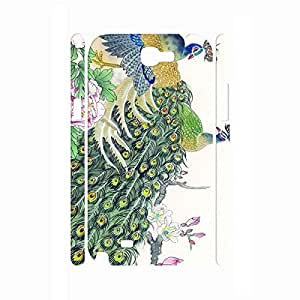 Custom Animal Series Peacock Picture Pretty Style Phone Accessories Hard Plastic Cover for Samsung Galaxy Note 2 N7100 Case
