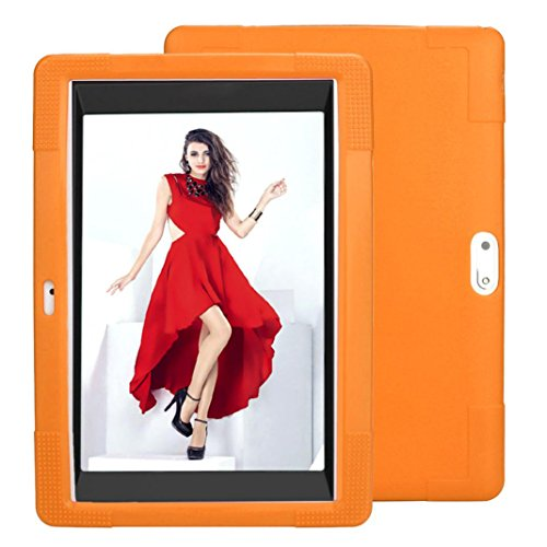 - MChoice Universal Silicone Cover Case For 10 10.1 Inch Android Tablet PC (Orange)