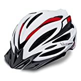 VICTGOAL Bike Helmet with Detachable Visor Back Light & Insect Net Padded Adjustable Sport Cycling Helmet Lightweight Bicycle Helmets for Adult Men and Women Youth Teenagers (White) Review