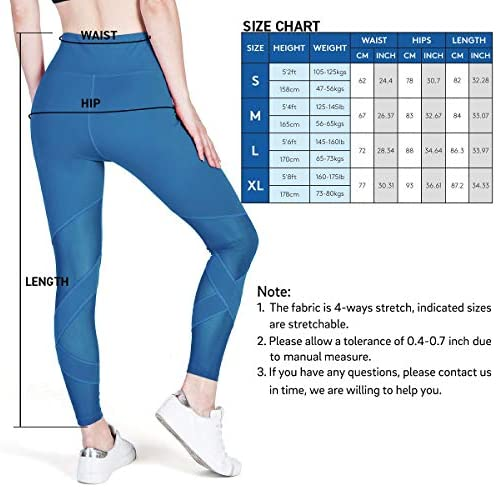 USHARESPORTS Legging for Women High Waisted Yoga Pants Tummy Control Workout Running Gym