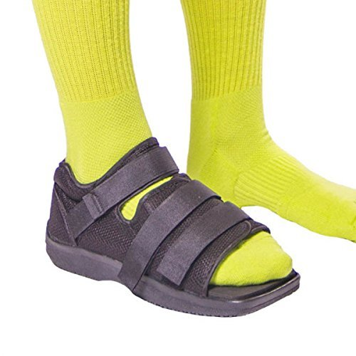 BraceAbility Post-op Shoe for Broken Foot or Toe | Medical/Surgical Walking Shoe Cast Boot, Stress Fracture Brace & Orthopedic Sandal with Hard Sole (LARGE - FEMALE)