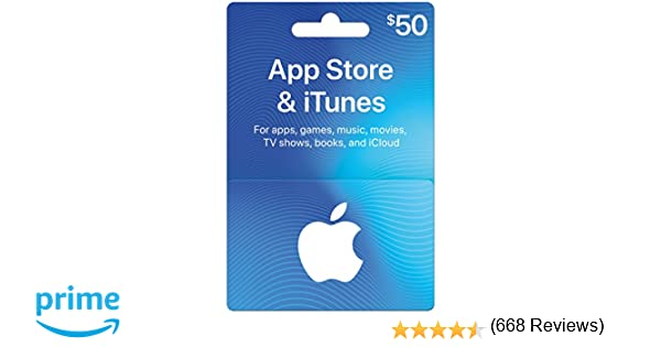 App Store & iTunes Gift Cards $50 - Design May Vary