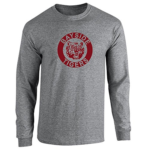 Bayside High School Tigers 90s Retro Clothes Graphite Heather S Long Sleeve T-Shirt