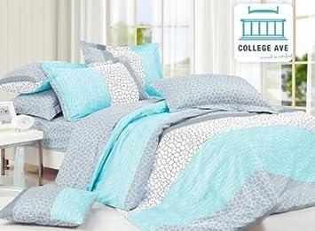 Amazon.com: Dove Aqua Comforter Set - Twin XL Twin Extra Long ... : aqua quilt set - Adamdwight.com