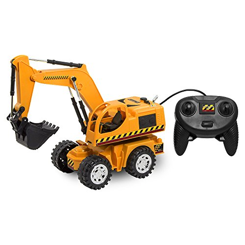 Kid Galaxy Remote Control Excavator. 6 Function Toy Tractor Digger - Kid Galaxy Remote