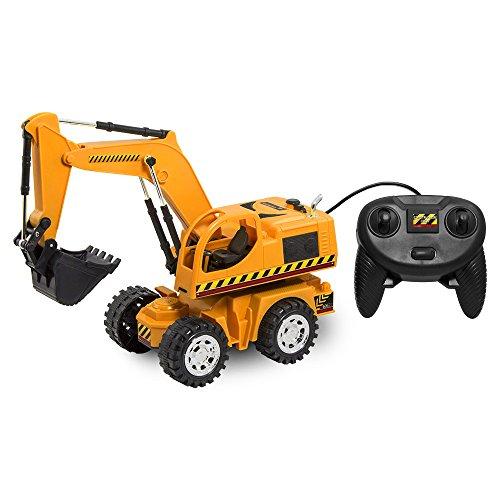 Kid Galaxy Remote Control Excavator. 6 Function Toy Tractor Digger