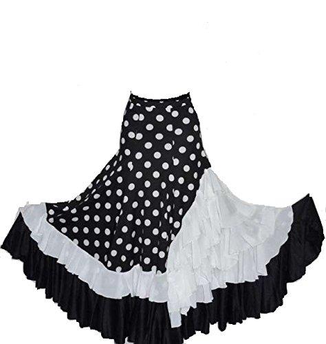 nueva llegada 2c417 81916 falda de sevillana flamenca temporada 2018 (xl): Amazon.es ...