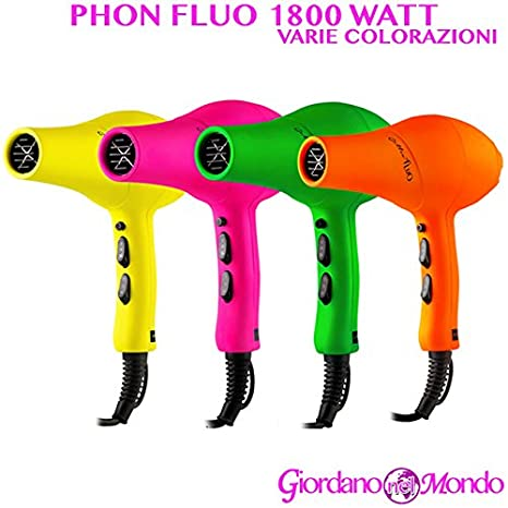 Secador Pelo Secador Peluquería Soft-Touch 1800 W Profesional ARANCIO FLUO B347: Amazon.es: Belleza