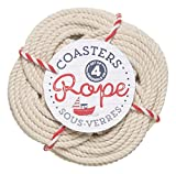 Now Designs Crocheted Nautical Rope Coaster, Set of